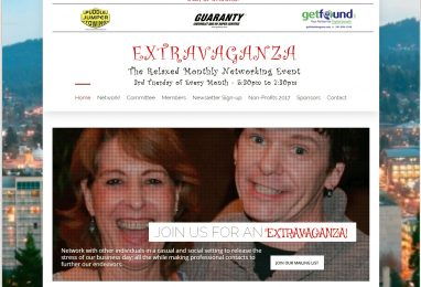 ExtravaganzaNetworking.com Website by Coppertree House