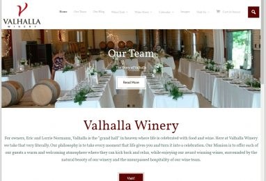 ValhallaWinery.com Website by Coppertree House