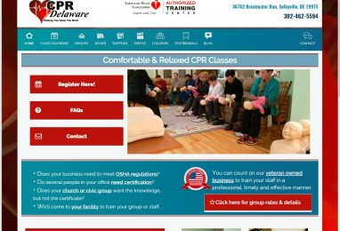 CPRDelaware Website by Coppertre House