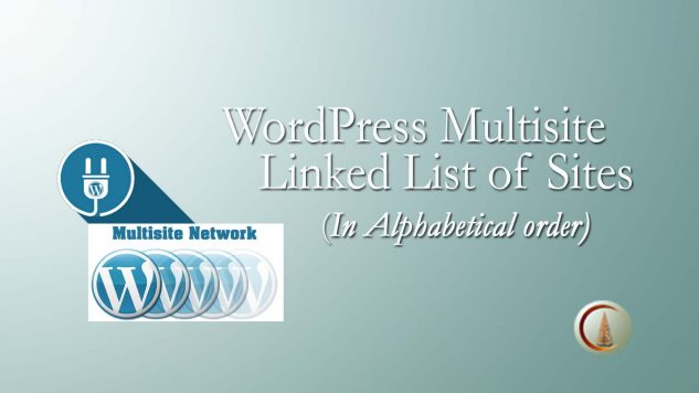 WP MultiSite List of Sites with Links