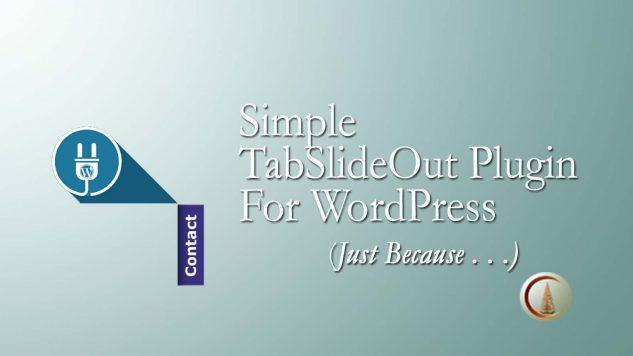 Simple Tab-Slide WordPress Plugin