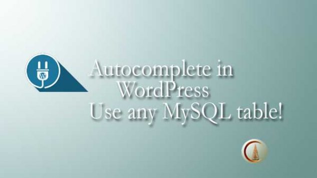Autocomplete in WordPress
